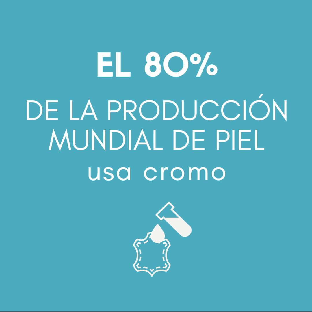> El 80 % de la producción mundial de piel usa cromo.v