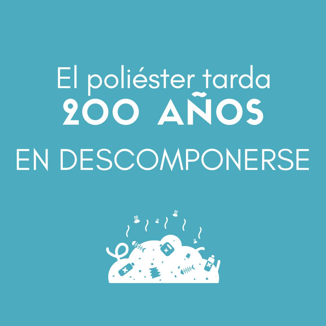 > El POLIÉSTER TARDA 200 AÑOS en descomponerse.