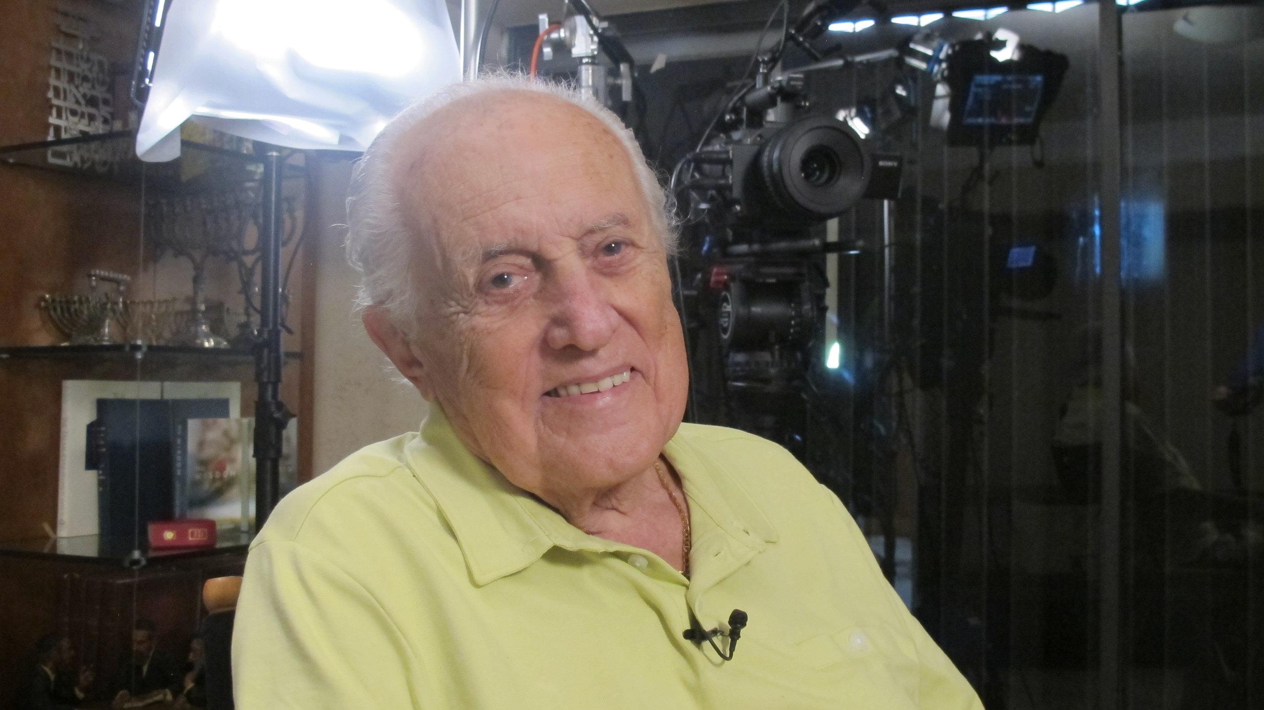 Holocaust Survivor and UM Holocaust Internship participant Victor Farkas.