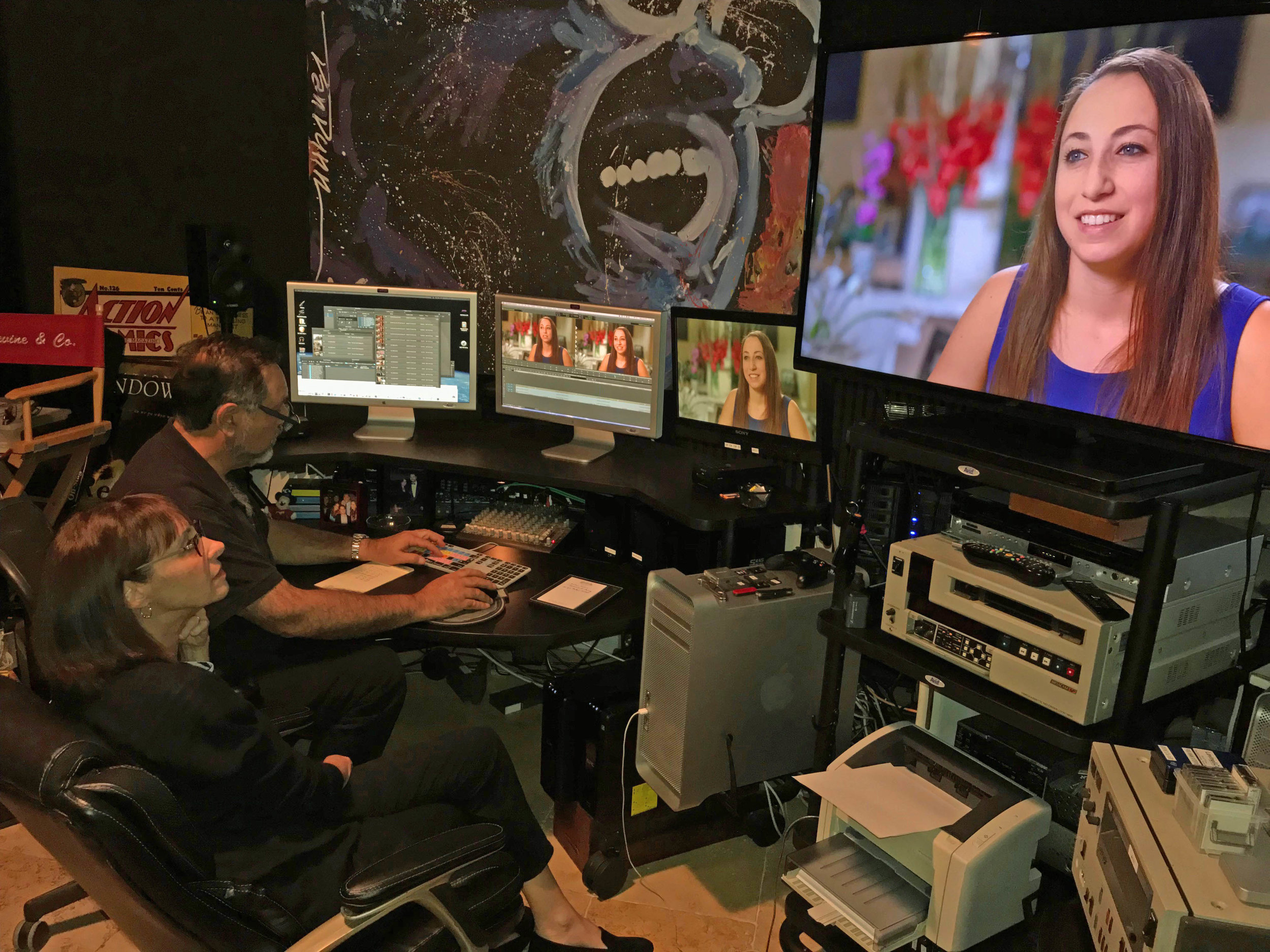 Logging the interview of UM Holocaust Internship participant Jackie Arvedon, filmed earlier in the year in Bal Harbor