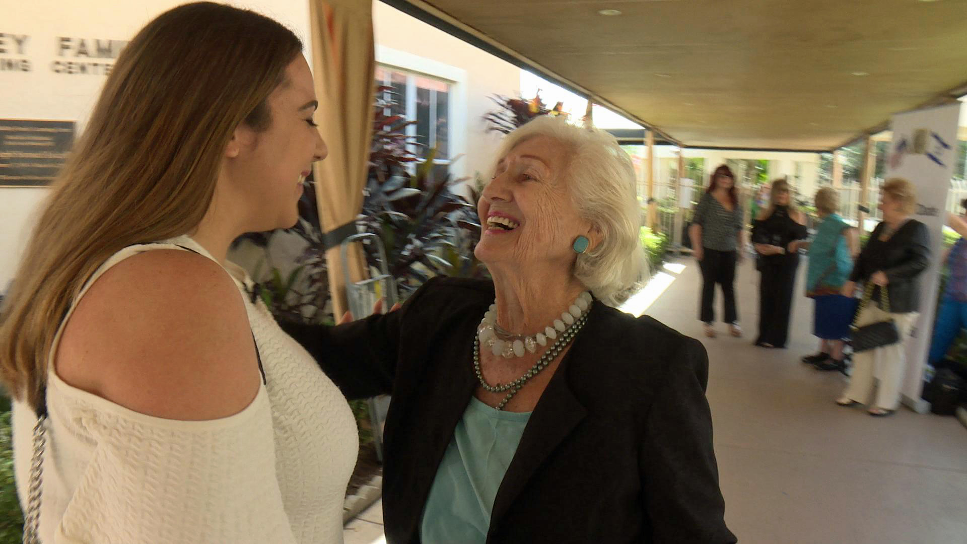 Holocaust Survivor Magda Bader reunited with Michele Abeckjerr for the first time since the internship ended.
