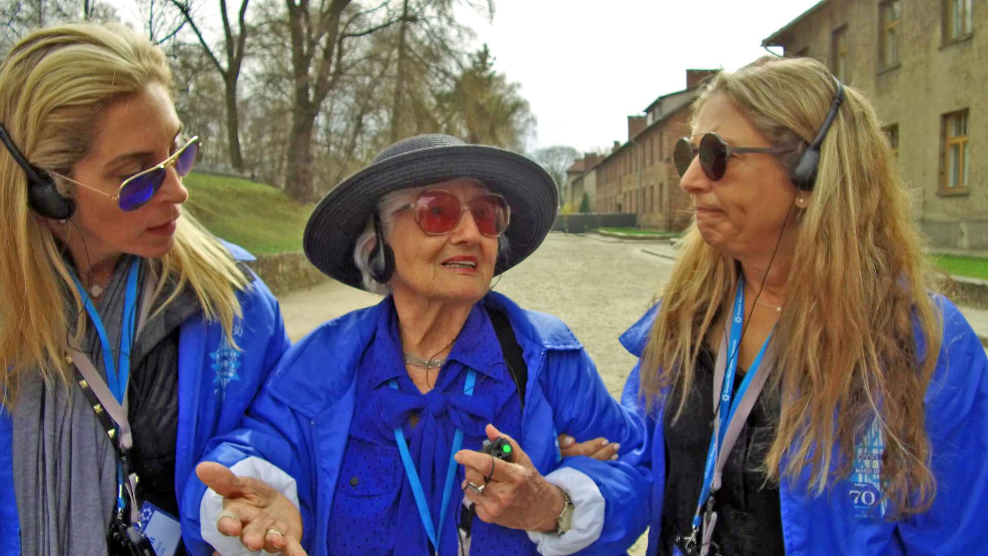 Magda at Auschwitz on April 11, 2018 - the day before the March of the Living took place there.