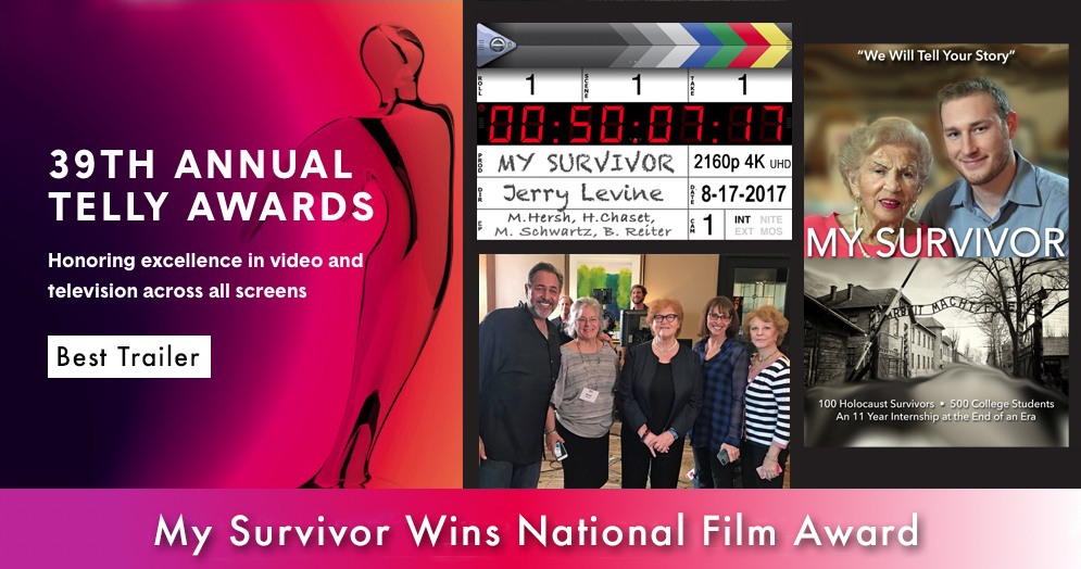 MY SURVIVOR'S TRAILER wins a 2018 Telly Award in the category of BEST TRAILER for not-for-profit online promotion.  The Telly Awards is the premier award honoring video and television across all screens. Established in 1979, The Telly Awards receives over 12,000 entries from all 50 states and 5 continents.