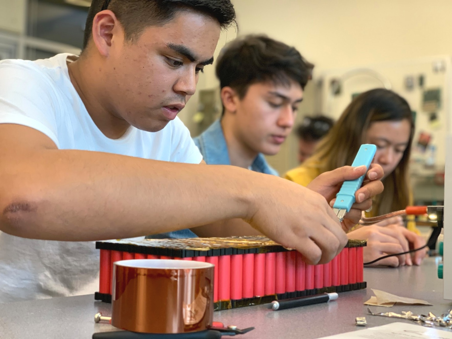 Innovation - The leads and all other members of the team work hard everyday to make creative improvements to the solar car electrically, mechanically, and design wise.