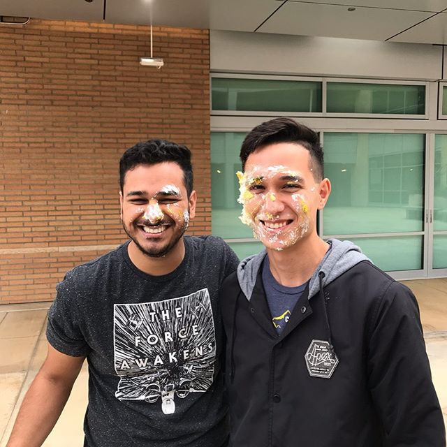 Project managers, co-leads, best friends, and future alumni. Thank you to Kyle and Paven for founding the team, and being such great leaders! 😎😊 #UCR #IEEE #BCOE #BOURNS #LEADS #SENIORS #GRADUATION #SPRING2019 #CAKING #BFFS