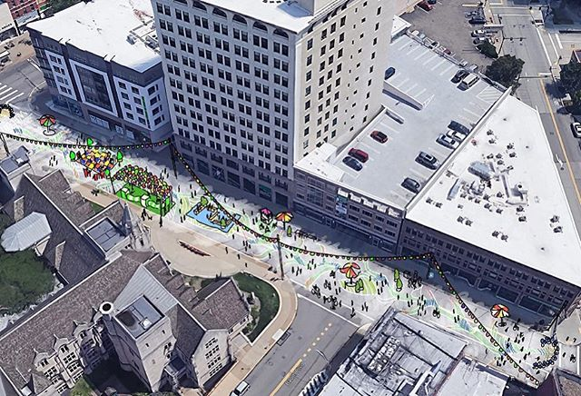 BikePGH's Open Streets PGH is taking place July 28, from 9 am to 1 pm. This event is free of charge and open to the public. This year, the Michael Baker Urban Design Studio is taking over a portion of S. Highland Avenue and transforming it into a pedestrian friendly activity zone with interactive stations for all ages. Link in bio for more info!