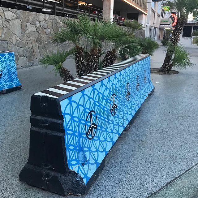 Wish that ALL concrete barriers could incorporate art! #placemaking