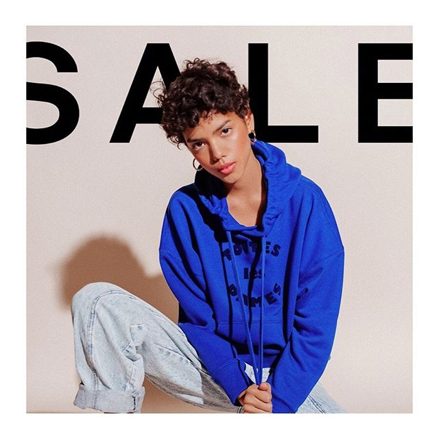 40% off our best-selling tees and sweatshirts happening NOW. Use code NOTCOPING. Go!!! 👉🏻 #soldoutnyc #salesalesale #thisisnotadrill