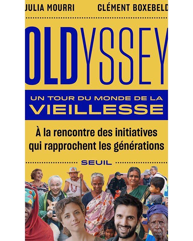 """Oldyssey bientôt dans les librairies ! Notre récit d'un an de rencontres avec des vieux incroyables à travers une douzaine de pays, d'autres façons de vieillir et de modèles qui rapprochent les générations dans d'autres cultures. Nous sommes heureux de vous annoncer que le livre """"Oldyssey, un tour du monde de la vieillesse"""" sortira aux @editionsduseuil le 3 octobre ! Et déjà en pré-commande chez votre libraire 😊"""