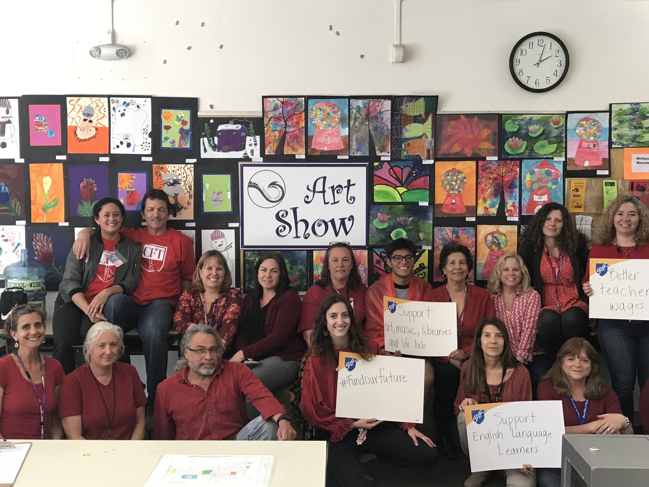 DELAVEAGA EDUCATORS ROCKIN' THEIR #REDFORED WE NEED FULL FUNDING FOR OUR PUBLIC SCHOOLS NOW!