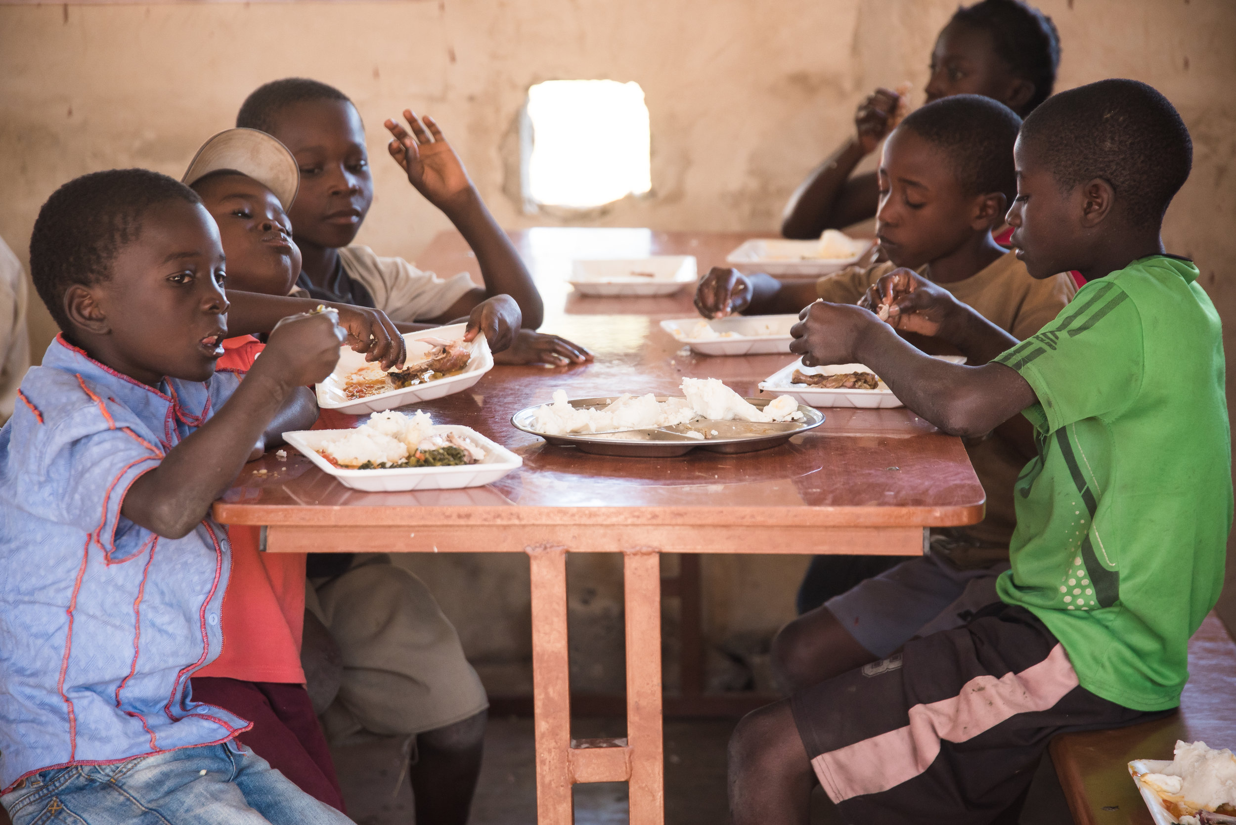 WE SERVED APPROXIMATELY 86,000 MEALS - FEEDING 243 CHILDREN AND 32 STAFF MEMBERS DAILY