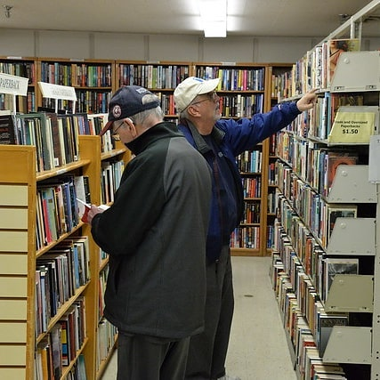 Don't worry! There are plenty of books for everyone at today's #friendsopl #booksale! Join us at W. Clarke Swanson Branch, 90th & Dodge, 10AM-3PM, every Thursday (except holidays) and first Saturdays for great deals on great books, CDs, DVDs & more! All proceeds benefit @omahalibrary. Hooray!  #friendsofthelibrarybooksale #friendsofthelibrary #library #libraryfriends #omaha #books #reading #beafriend #movies #music