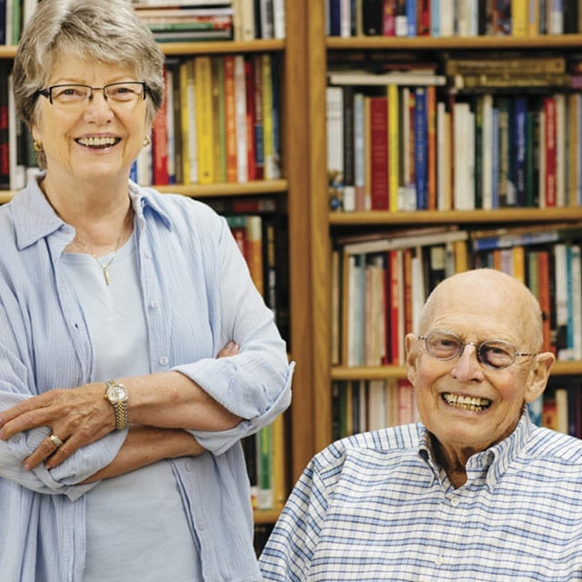 @omahamagazine recently featured an article about longtime @friendsopl volunteers, Joe and Polly Goecke. Sadly, Joe passed away on Sept. 10, before the article was published. Read it online athttps://bit.ly/2VoByL8.  Joe will be missed, and his hard work and dedication to a vibrant library system for our community will live on through the many contributions he made in his service to Omaha Public Library. #OmahaLibrary #FriendsofOmahaPublicLibrary #volunteer