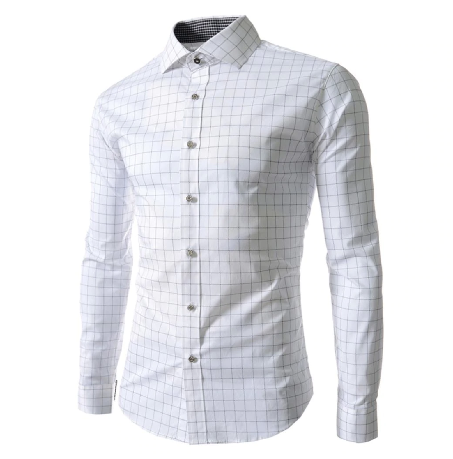 "This white button-down may look a little formal, but it's always better to be overdressed than underdressed. Most importantly, the subtle Excel spreadsheet-like pattern will gently remind everyone you work in an office setting, before they stop you in the hallway and ask ""are you lost?"", again."