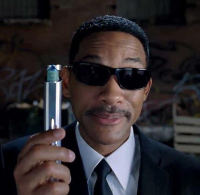 Agent J - Sunglasses? Check. Neuralyzer? Check. White Dudes quoting Ezekiel 25:17 at you? CHECK.