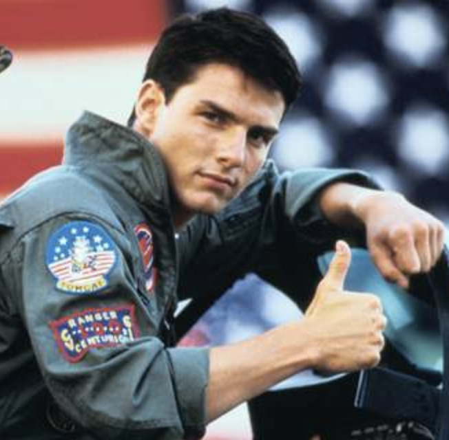 Maverick - I know, flight suits are different from regular suits, but people would rather believe there was an obscure deleted scene in Pulp Fiction before they believe in a black pilot.