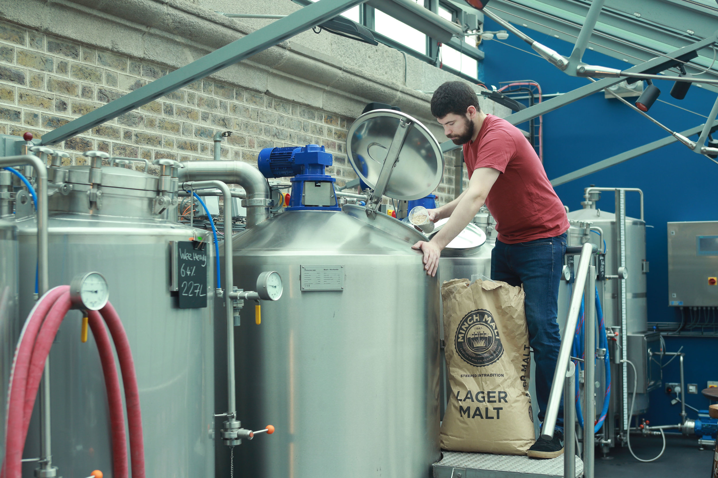 Our head brewer Mickey