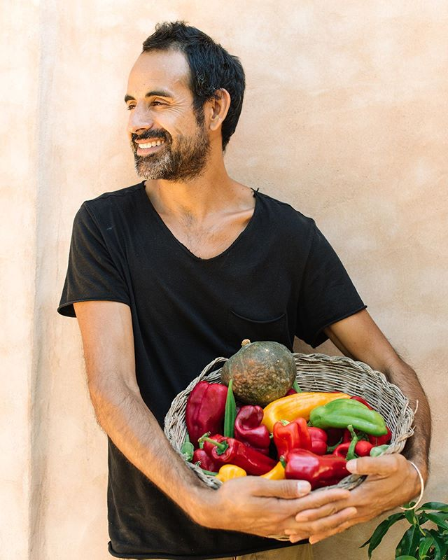 """Visit @finca_canmarti to say hello to their awesome gardeners and amazing farm to table chefs!  We are so happy that more and more businesses focus on growing their own produce.  Photo by @analuiphotography for @condenasttraveller June's issue and #Ibiza """"Back to the land"""" story"""