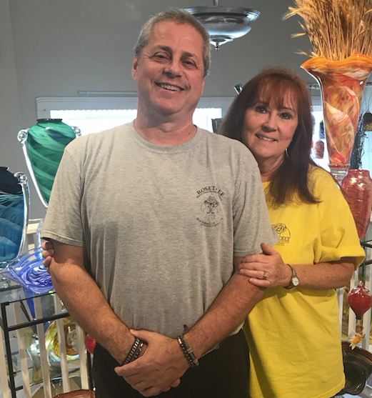 Mark and Brenda Rosenbaum | Rosetree Glass Studio and Gallery