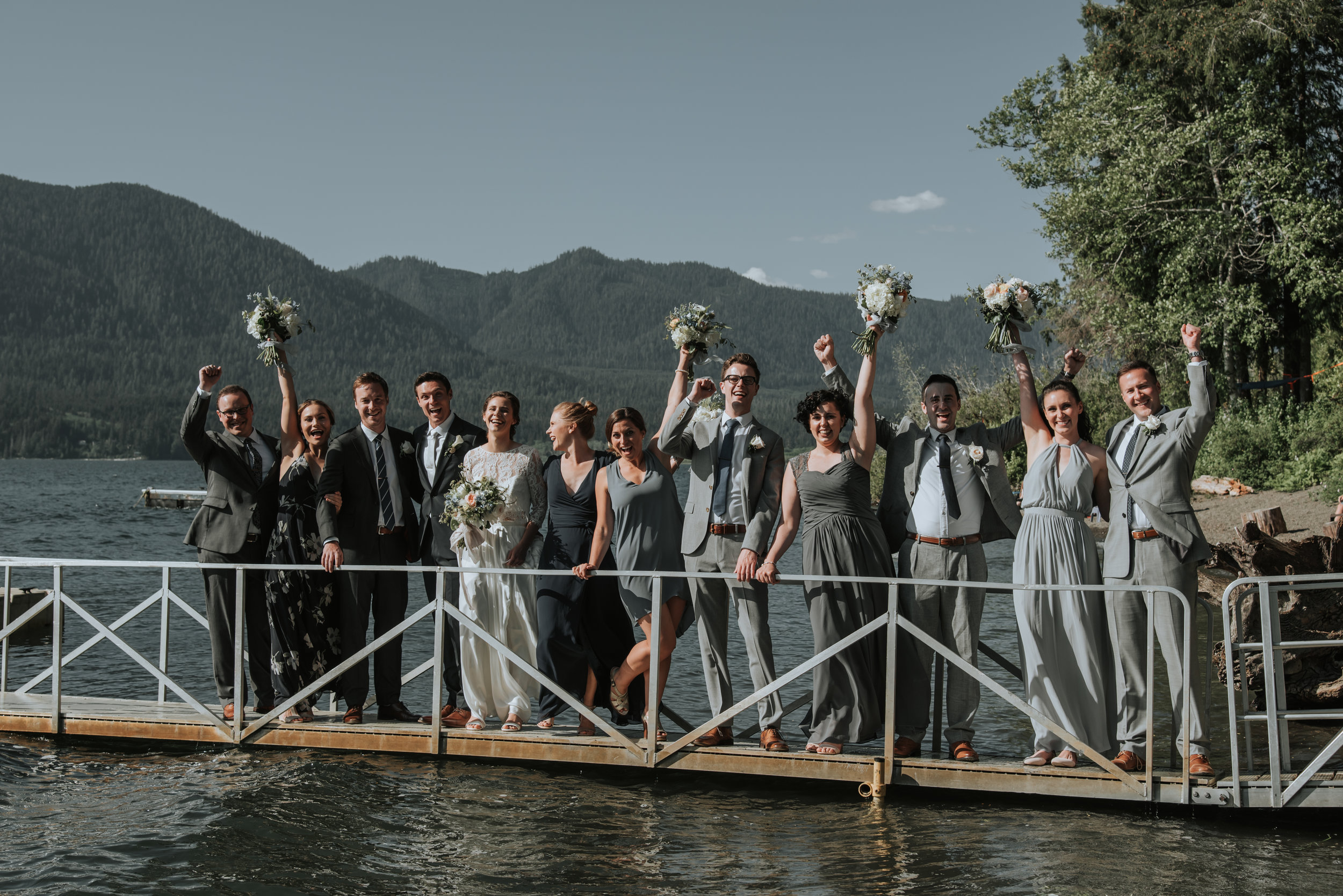 The happy wedding party :) Photo by Logan Smith Photography.