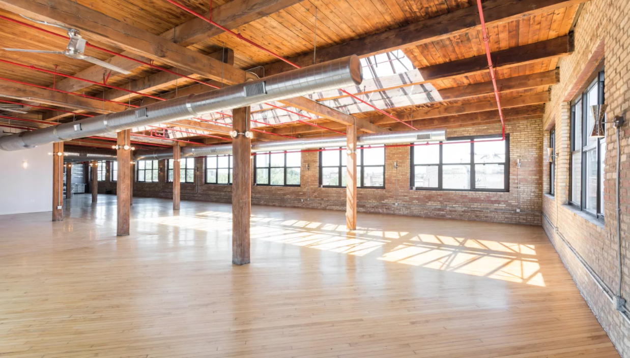 The skyline view loft  Location: West Town Seated Capacity: 175 Saturday Price: $7,500