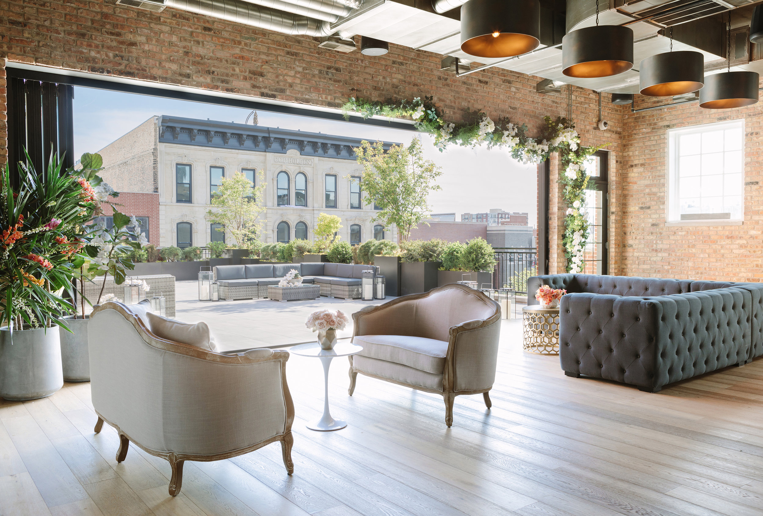 The WEstside loft  Location: West Loop Seated Capacity: 130 Saturday Price: $5,500