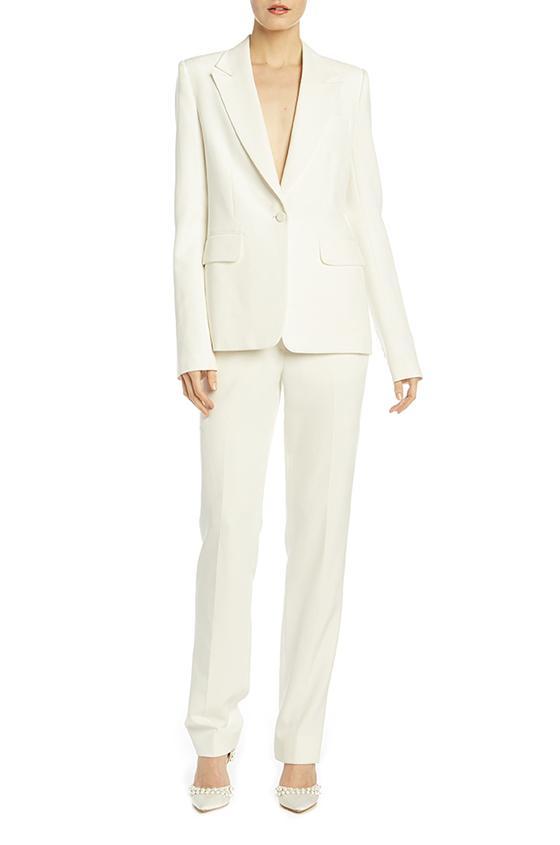 Yoko Tuxedo Pant, $990,  Monique Lhuillier