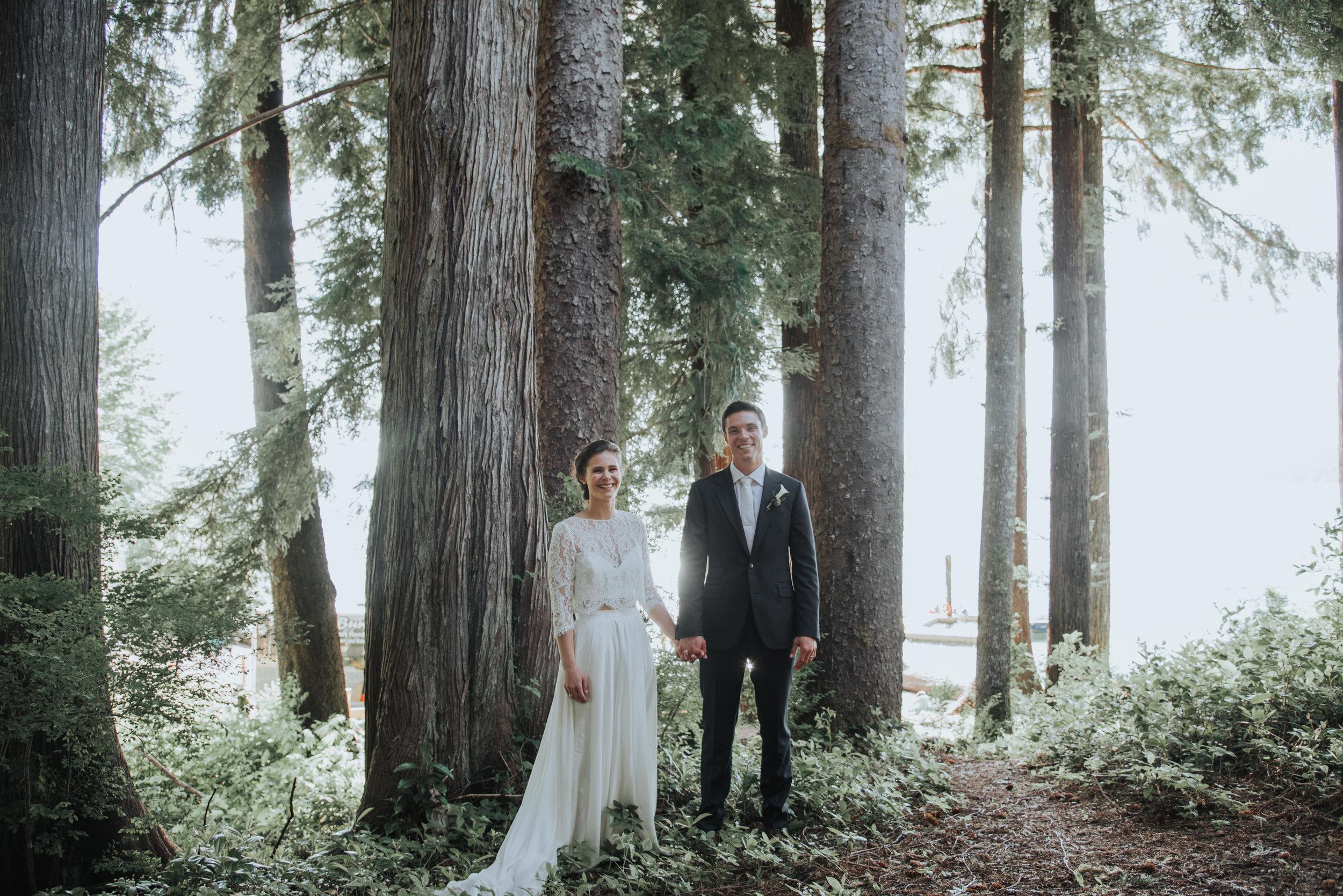 Elizabeth & Conor - Quinault, WAVenue: Lake Quinault LodgePhotographer: Logan Smith