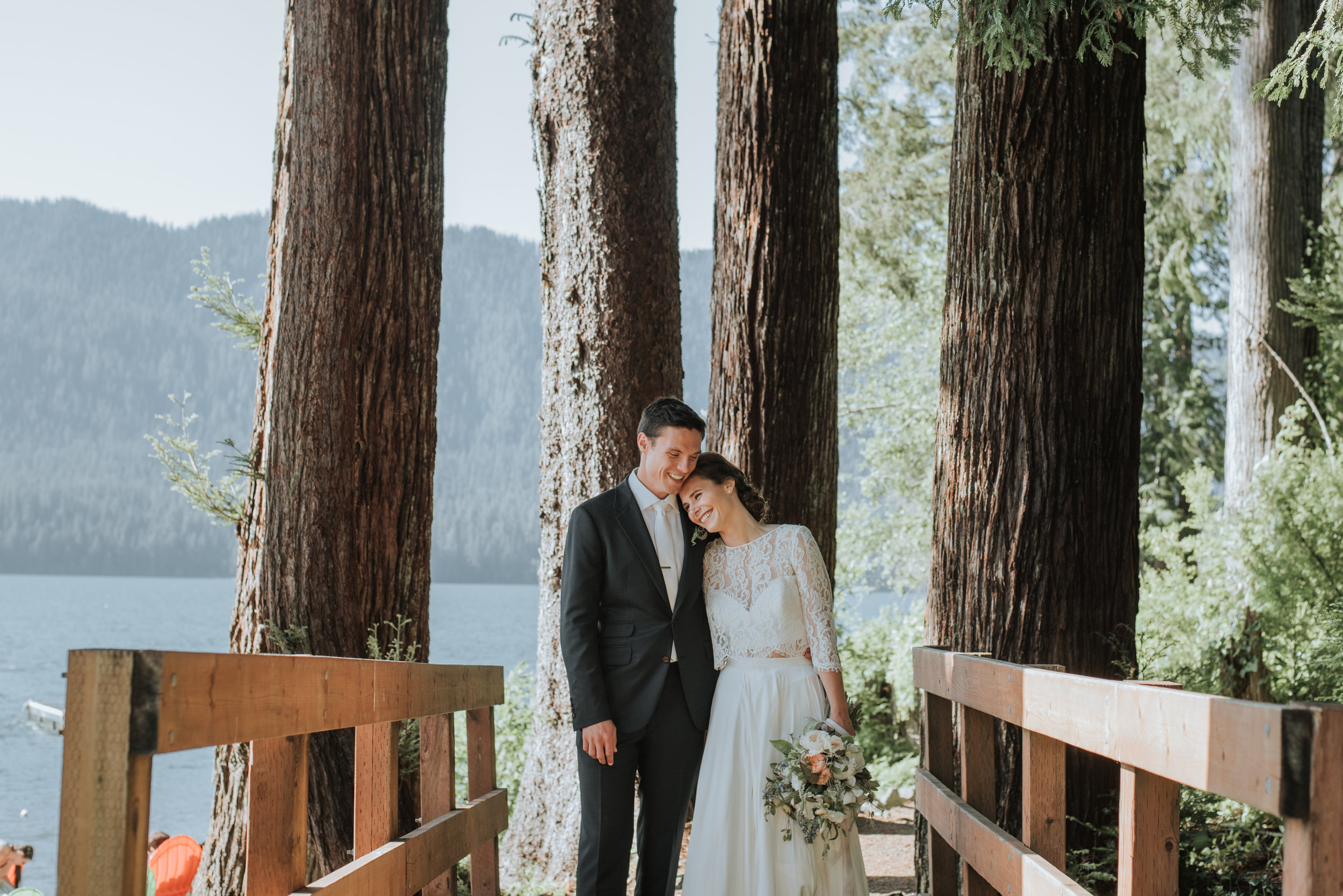 Elizabeth & Conor - Quinault, WAVenue: Lake Quinault LodgePhotographer: Logan Smith PhotographyVibe: Rustic