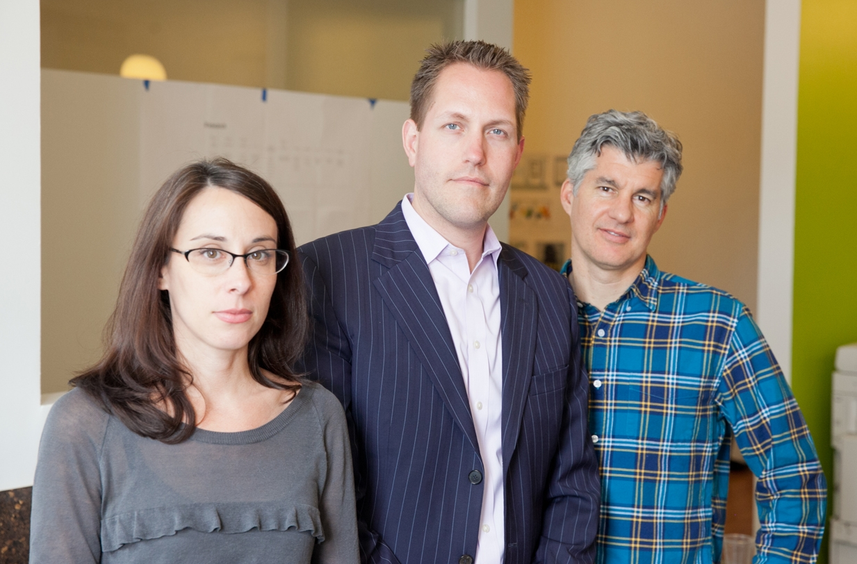 The Monaco Lange triumvirate:(L to R) Tessa Tinney, Colin Lange, and Greg Monaco.