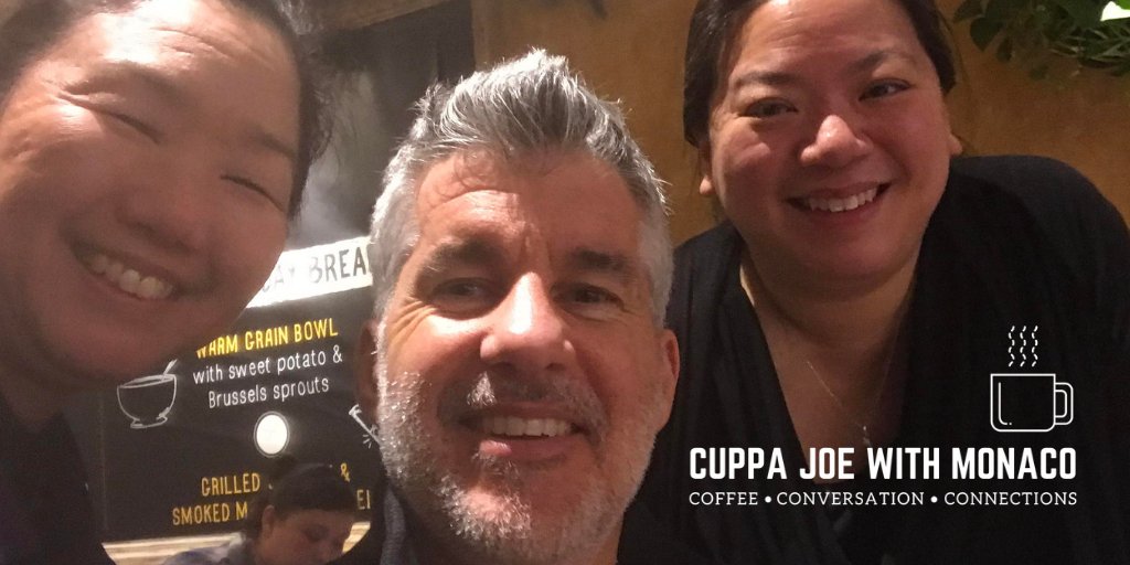 Pictured from L: LEAP President & CEO Linda Akutagawa, your humble coffee hound, and LEAP Development Director Nancy Yap. Linda likes her coffee with a more than a splash of cream. Nancy takes hers black and painfully caffeinated.