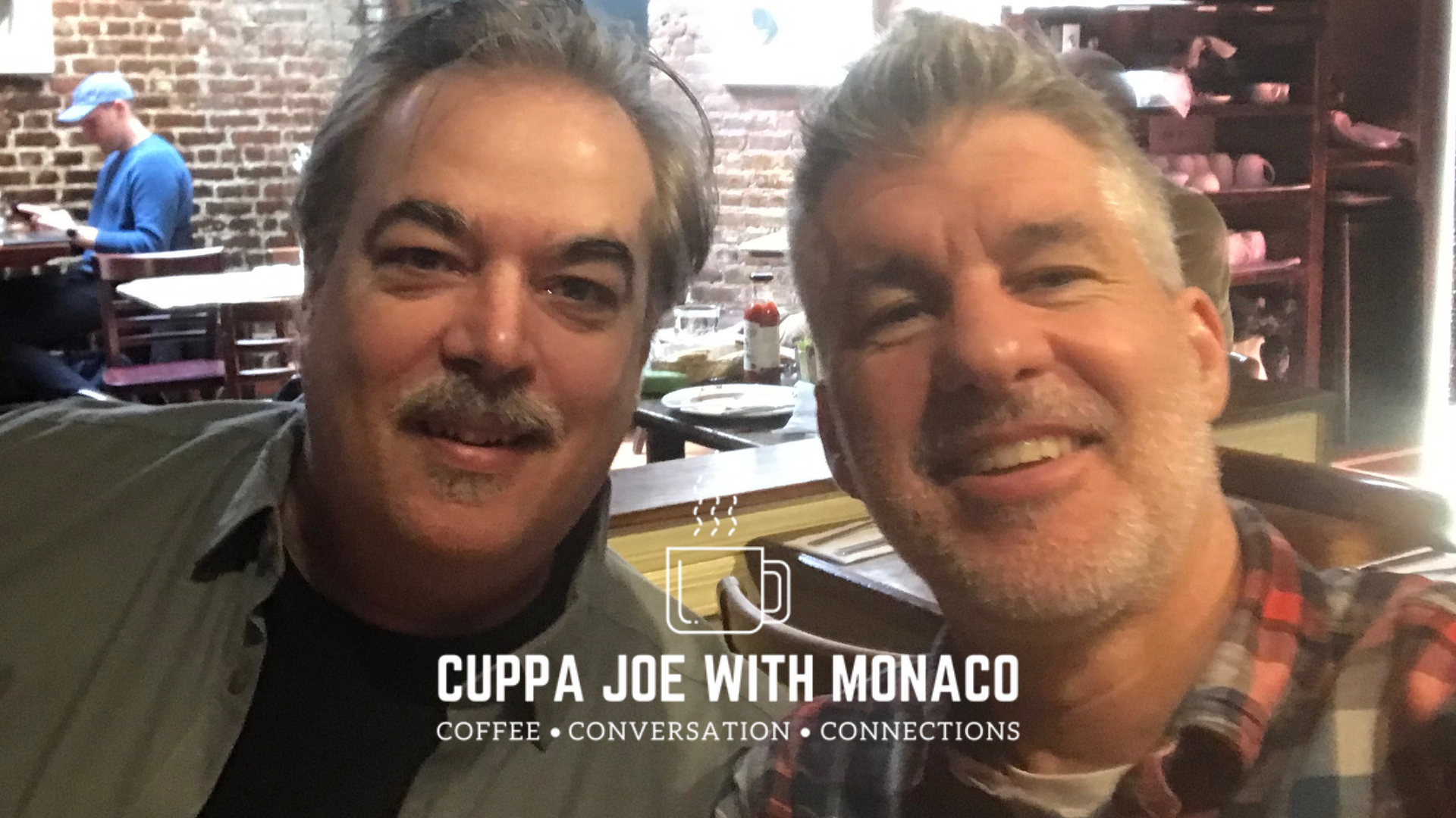 Pictured: Bob Ciosek, Founder/CEO of World's Greatest, and I talking sports at the Cupping Room SoHo in NYC. Bob, being the visual guy he is, stops pouring cream in his coffee when it matches the color of a paper grocery bag.