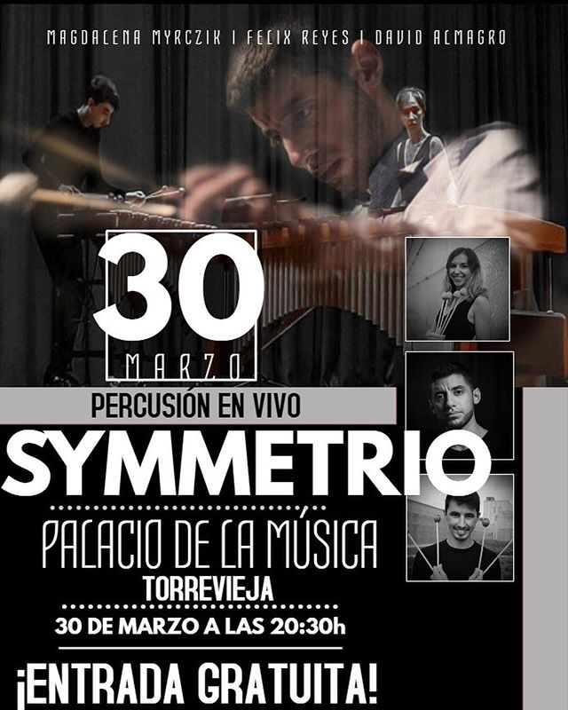 Today's the day! Can't wait to finally see @deividperc95 and @sautiduo in a few hours in Alicante! Really excited to start putting our program together as Symmetrio and to work on logistics for future projects! 🥰  @marimbaoneofficial @vicfirth #alicante #spaintour #percussion #chambermusic #internationaltrio