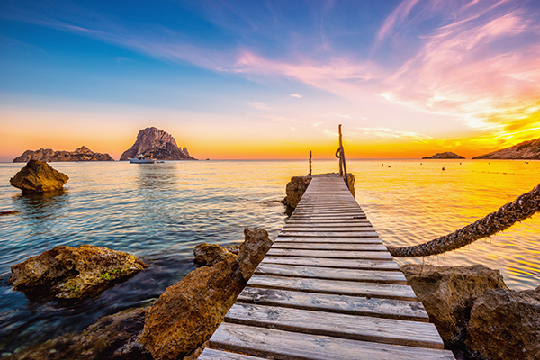 44 trips to the party island of Ibiza on a Midsize Jet  -