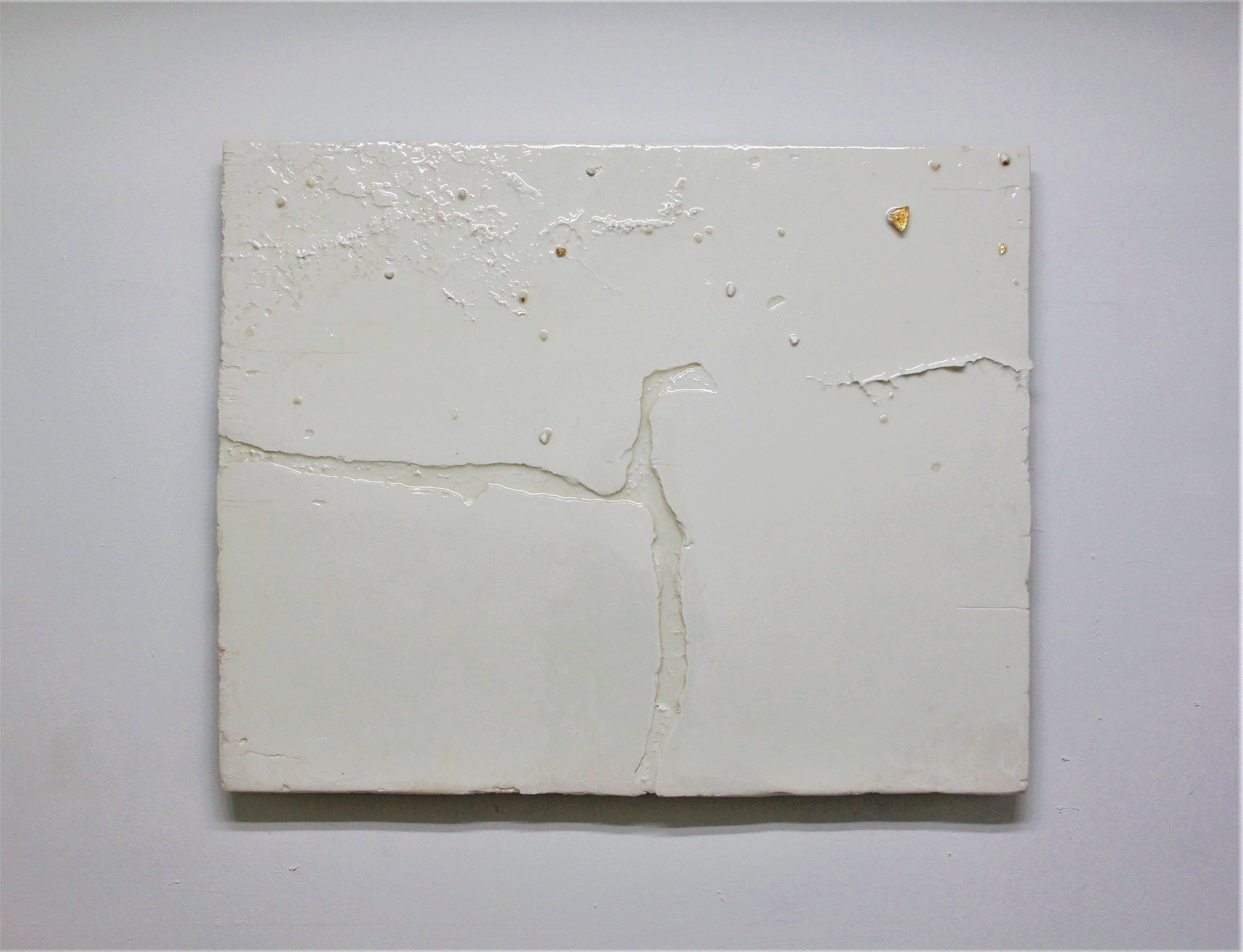 Appendix 5, 2019, Resinated Gypsum Plaster and Gold Leaf on Wood, 68 x 84 cm.jpg