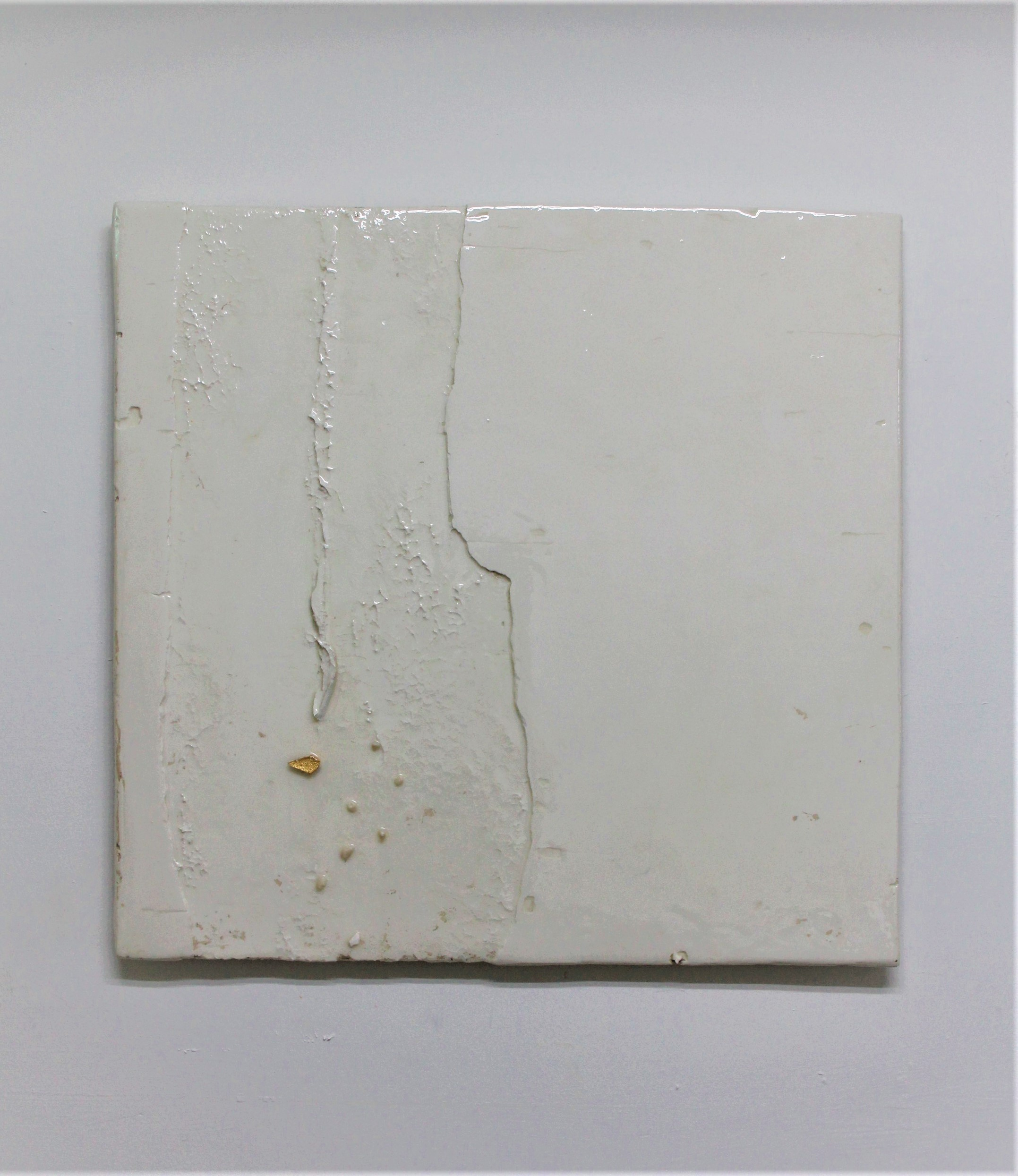 Appendix 6, 2019, Resinated Gypsum Plaster and Gold Leaf on Wood, 68 x 70 cm.jpg