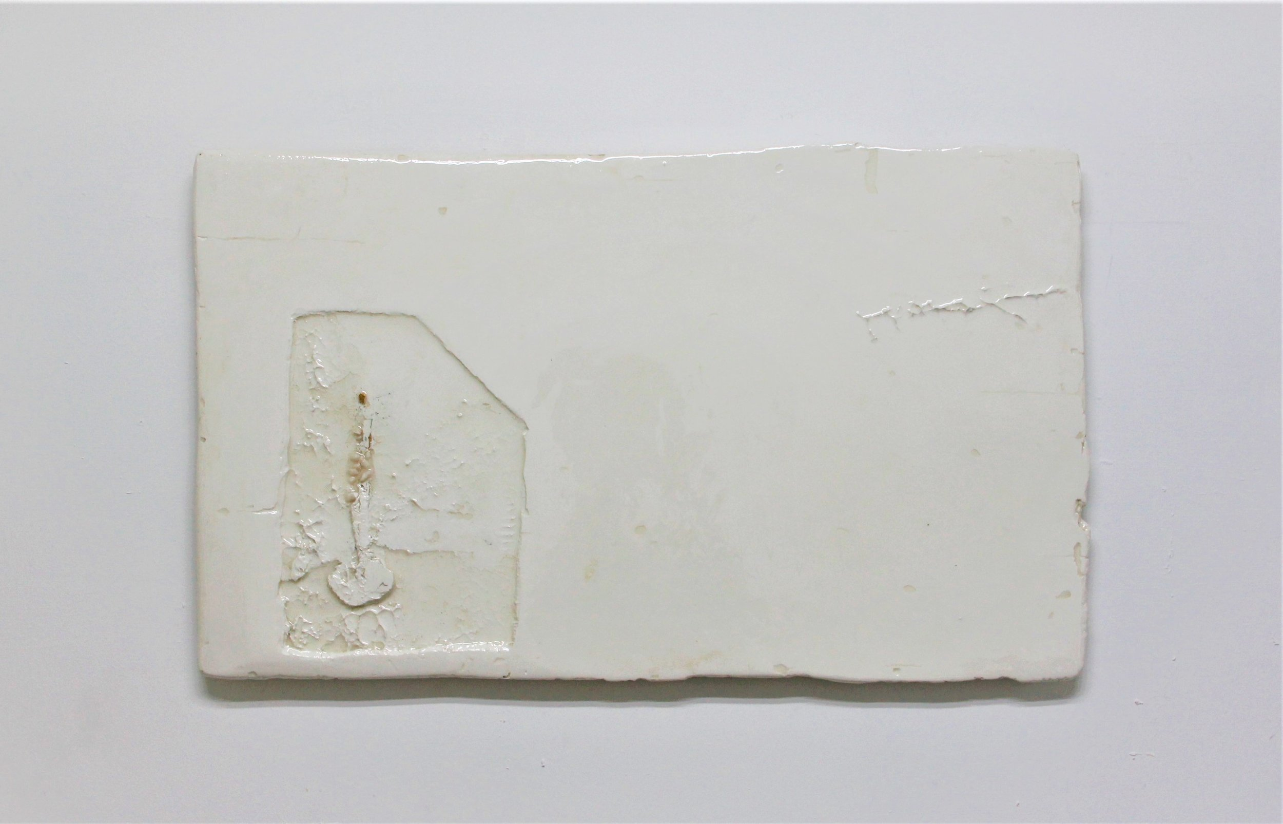 Appendix 7, 2019, Resinated Gypsum Plaster and Gold Leaf on Wood, 53 x 90 cm.jpg