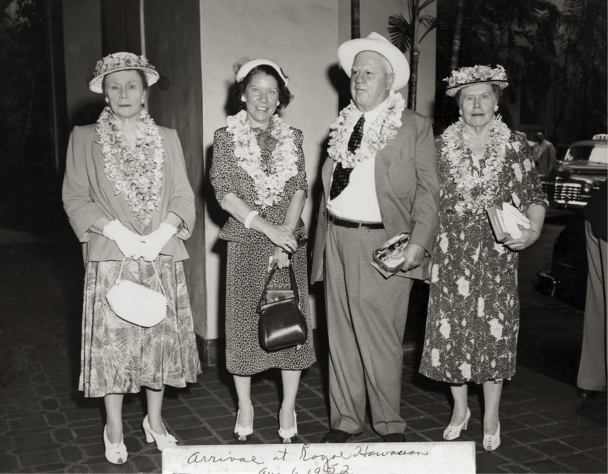 L to R: Lucile Halsell, Helen Campbell, Ewing Halsell and Grace Rider