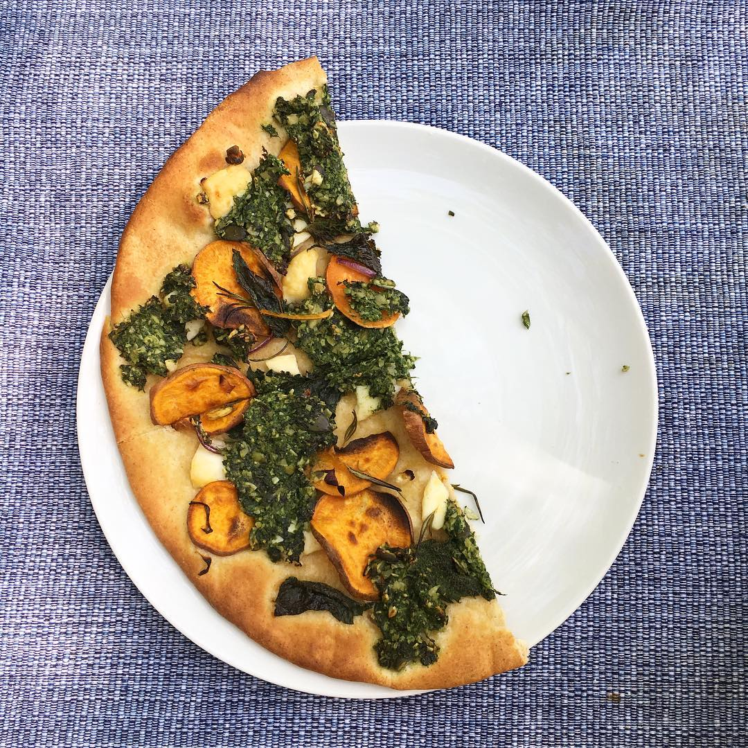Nettle Pesto Pizza