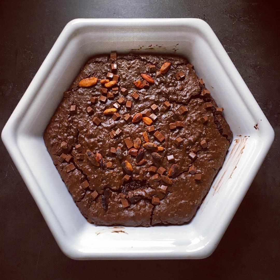 Kidney Bean Goji Berry Brownies