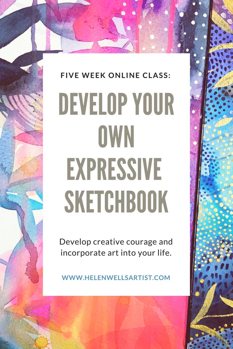 Helen Wells online class Expressive Sketchbooks