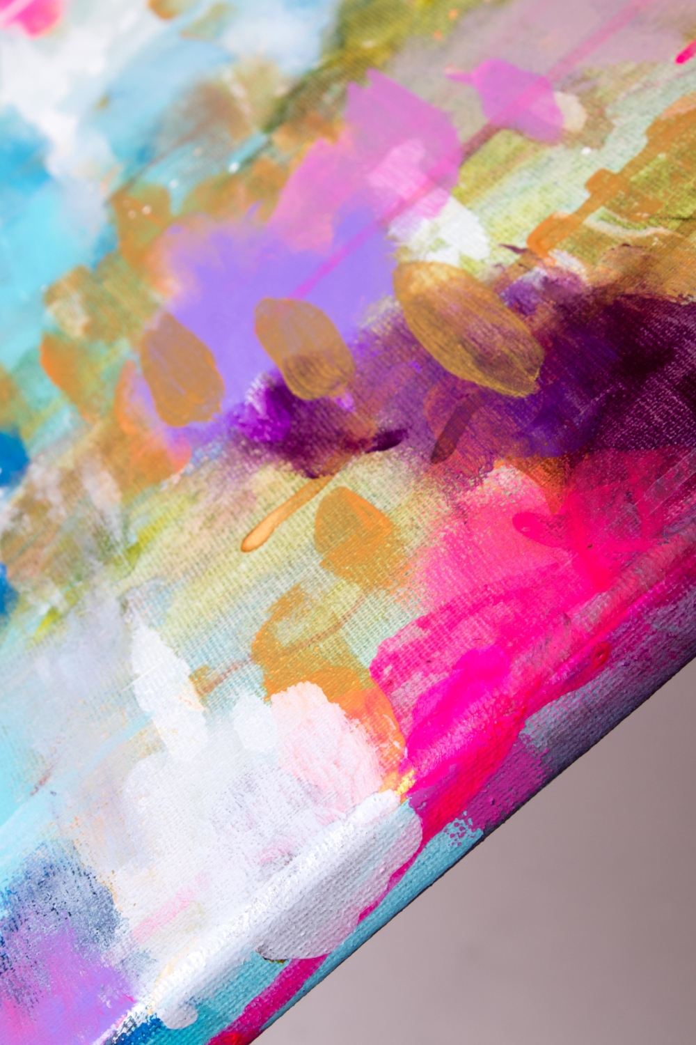 DETAIL SHOT OF NEW PAINTING
