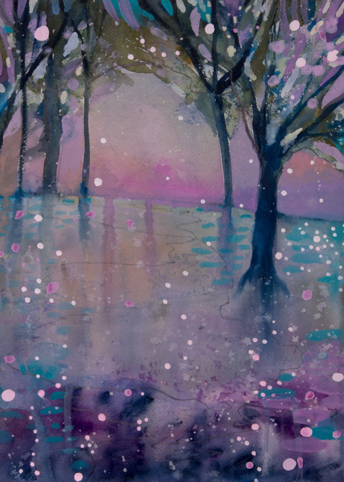 Light Dancing in the Trees series by Helen Wells