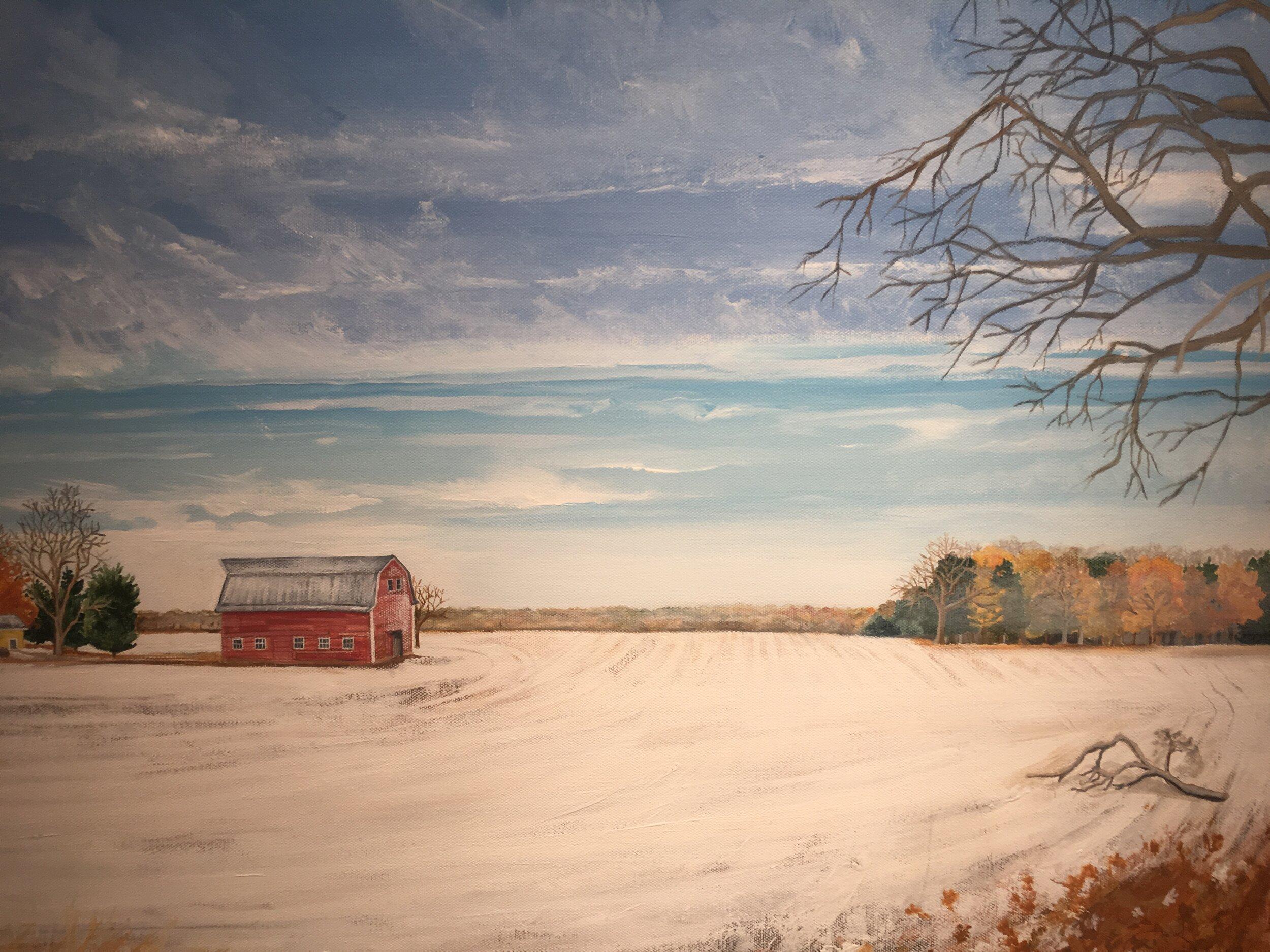 Lake Anne Barn Painting.JPG