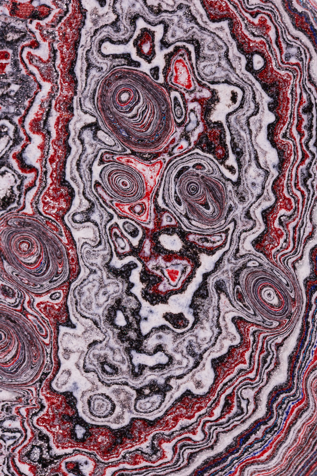 And then suddenly Jupiter in the microscopic folds of Fordite