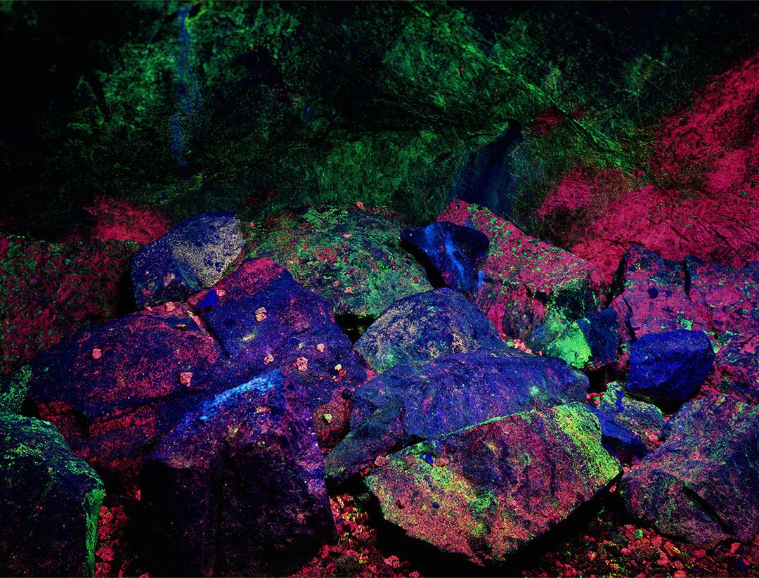 Minerals Under a Black Light