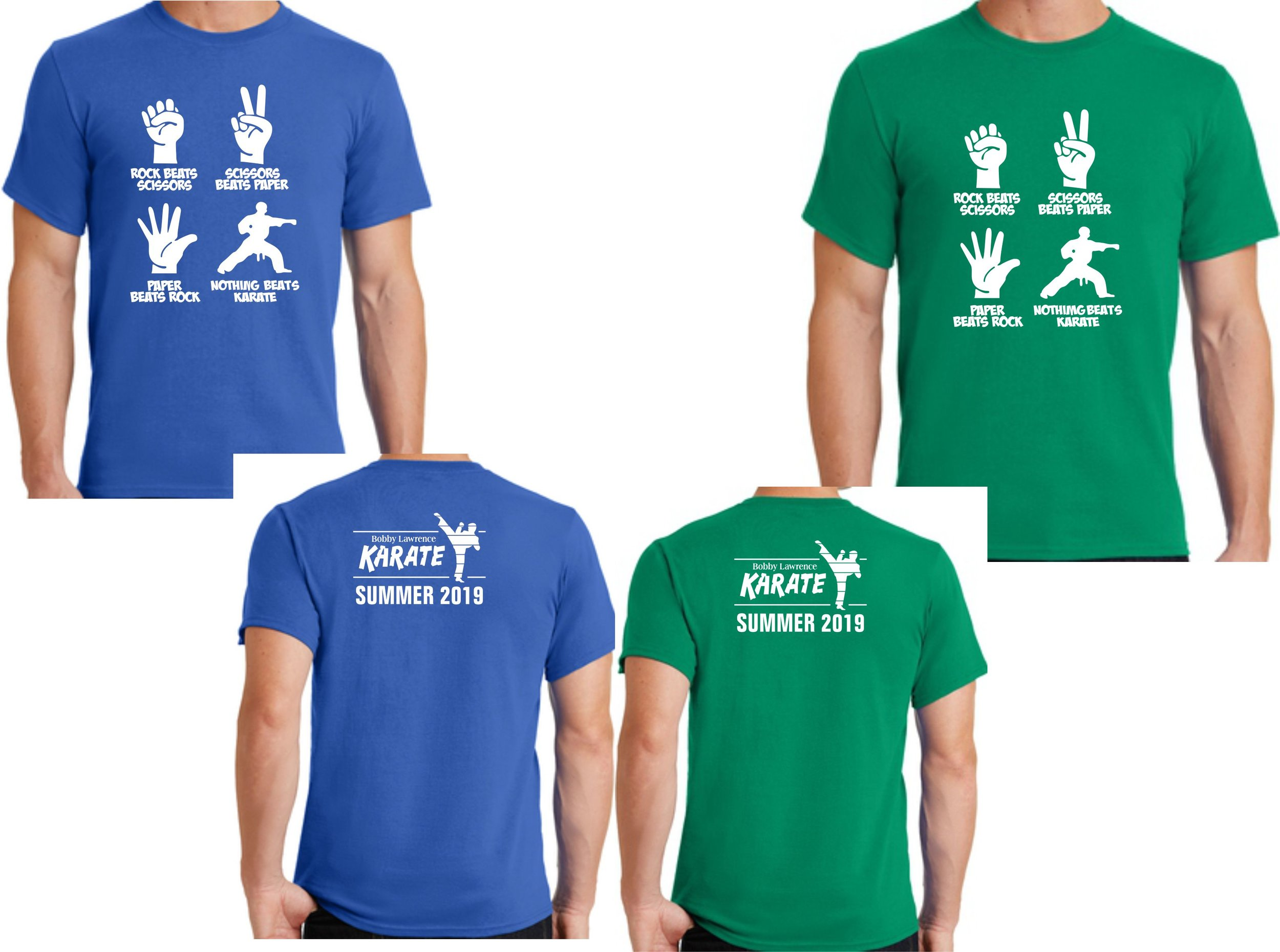 Blue shirts are for Black Belt Training and Basic program members. Green shirts are for Black Belt Leadership members (that way we can still tell who is in each program).