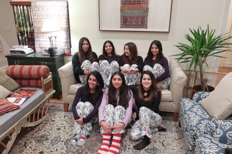 All of us in our lovely, matching pjs.