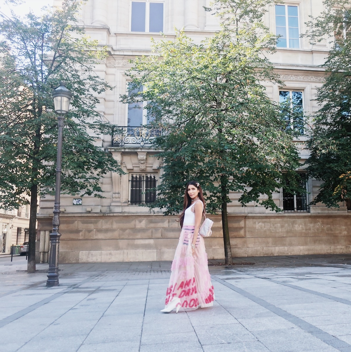 """Heading to    Manish Arora's    show. Bumped into my friends on the way, who were taking a break from the shows and of course, an """"impromptu"""" photoshoot ensued:)"""