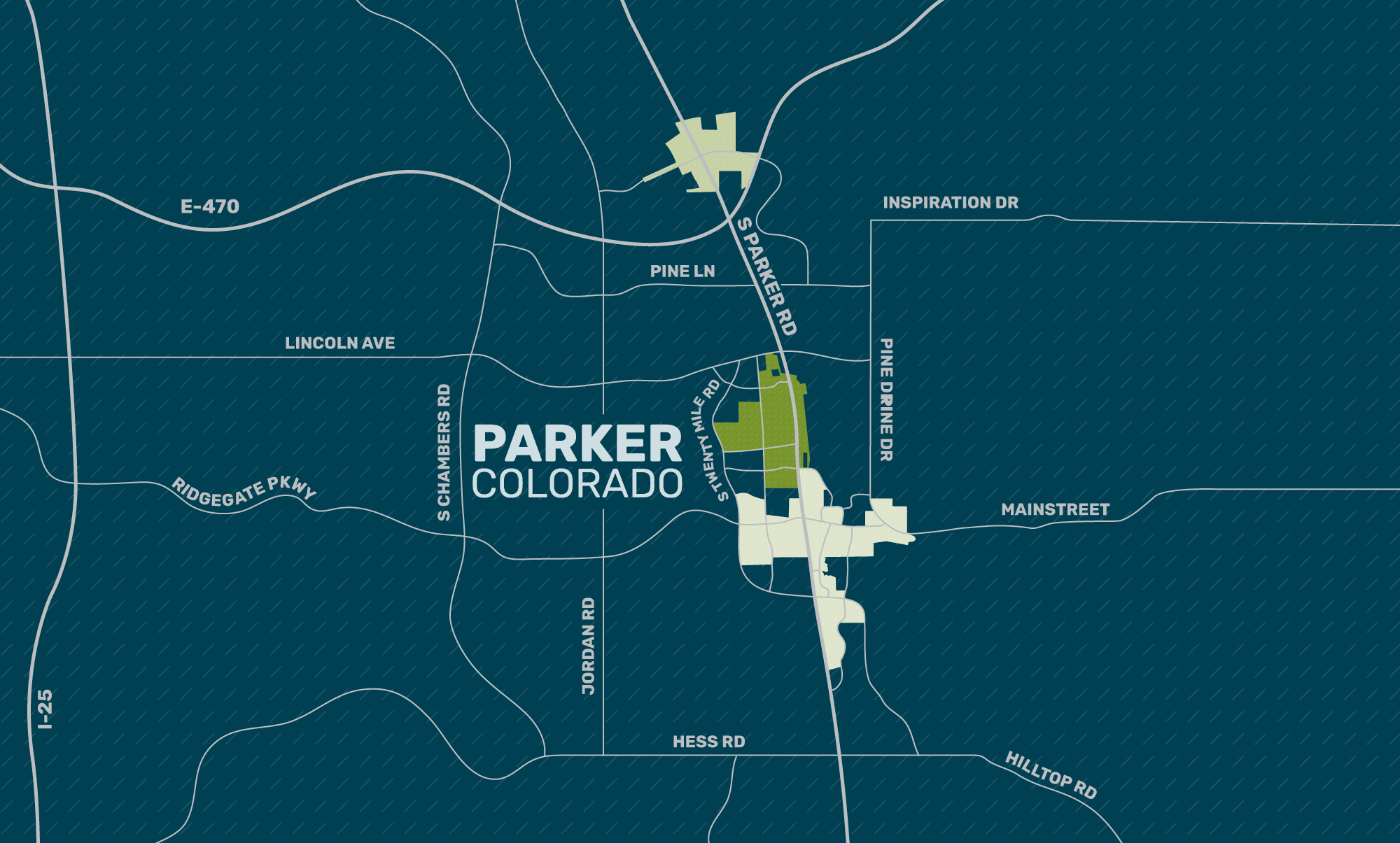 MAPS OF ALL AREAS (.pdf & .jpg)   Includes comprehensive map with all areas as well as specific Parker Central, Parker Road and Cottonwood maps